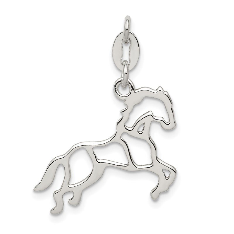 Quality Gold Sterling Silver Polished Horse Charm