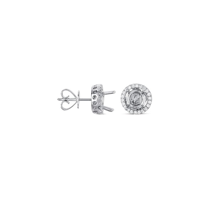 S. Kashi  & Sons Four Prong Earring Jackets For .50ct TW
