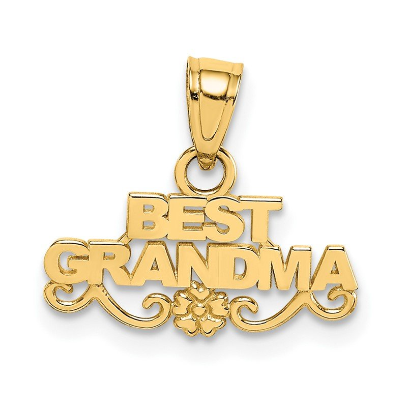 Fine Jewelry by JBD 14k BEST GRANDMA Pendant