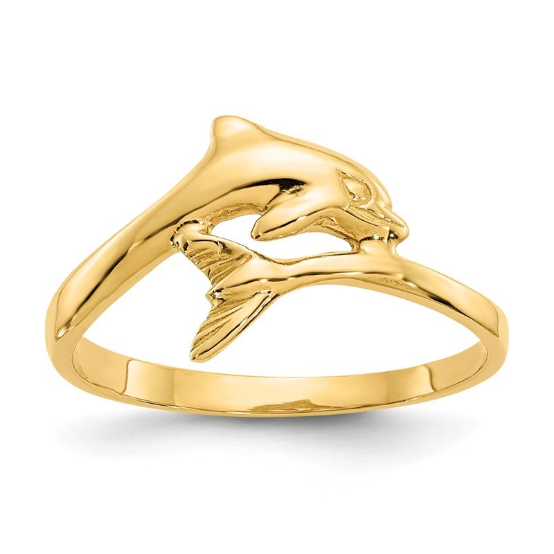 Quality Gold 14k Dolphin Ring