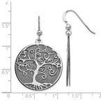 Leslie's Leslie's Sterling Silver Ruthenium-plated Tree Dangle Earrings