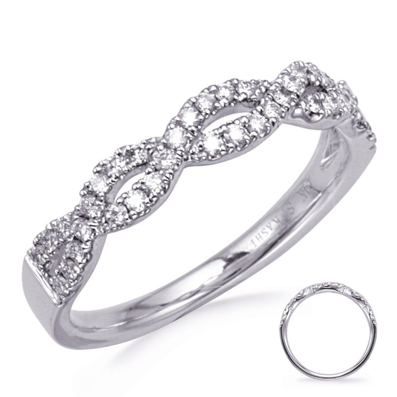 S. Kashi & Sons Bridal White Gold Diamond Matching Band