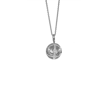 #23393 Of Ball Pendant With Diamonds