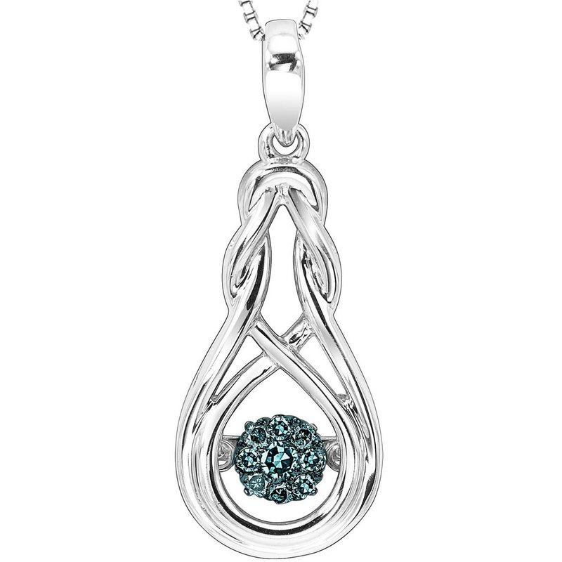 Rhythm of Love Silver Blue & White Rhythm Of Love Pendant