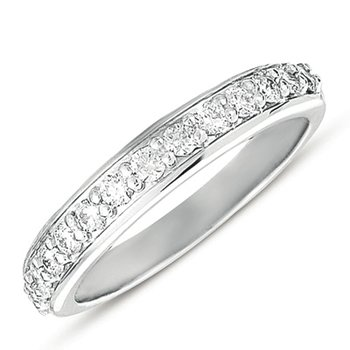 White Gold Matching Band