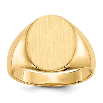 14k 16.0x12.5mm Open Back Men's Signet Ring