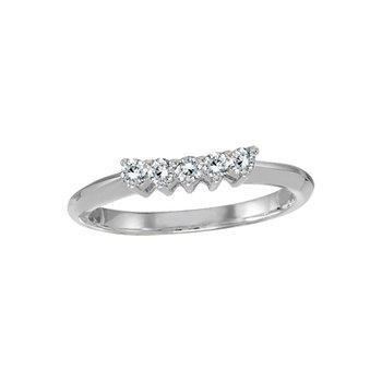 14k White Gold 0.25 Ct Diamond Wrap Band