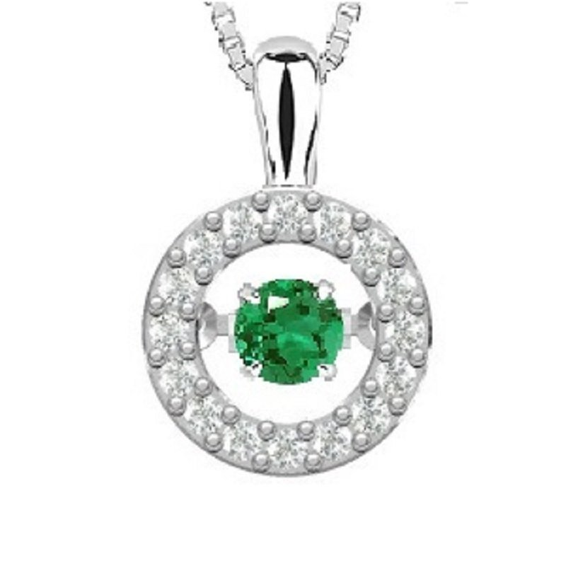 Rhythm of Love 14K Emerald & Diamond Rhythm Of Love Pendant