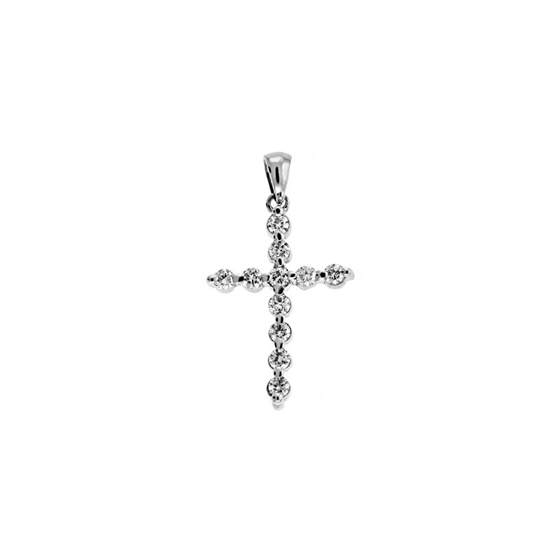 S. Kashi  & Sons White Gold Diamond Cross