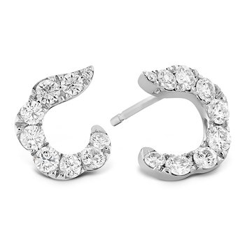 1.15 ctw. Lorelei Crescent Diamond Earrings