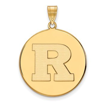 Gold Rutgers University NCAA Pendant