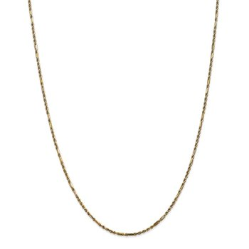 14k 1.8mm Diamond-cut Milano Rope Chain Anklet