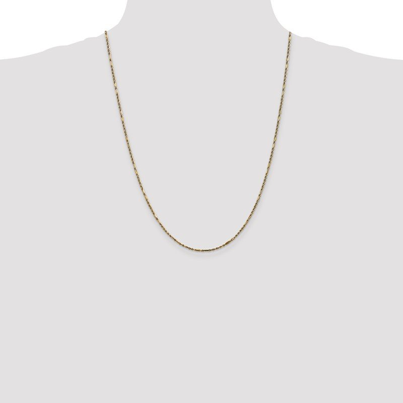Quality Gold 14k 1.8mm D/C Milano Rope Chain Anklet
