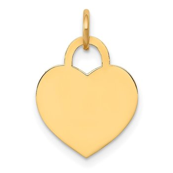14k Small Engravable Heart Charm