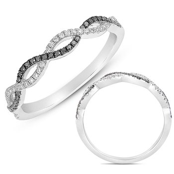 Platinum & Black Diamond Matching Band