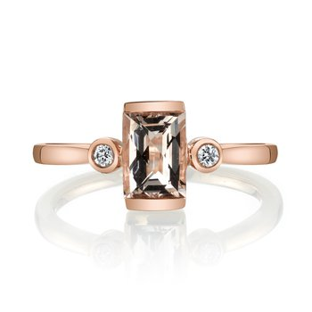 MARS 27262 Fashion Ring, 0.06 Dia., 0.72 Morganite