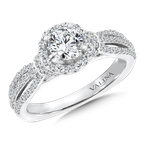 Valina Bridals Mounting with side stones .60 ct. tw., 5/8 ct. round center.