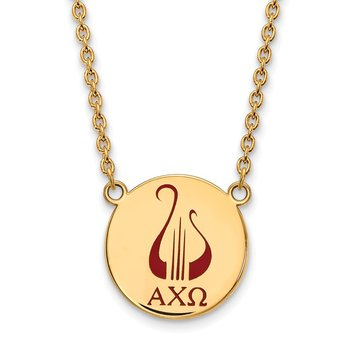 Gold-Plated Sterling Silver Alpha Chi Omega Greek Life Necklace