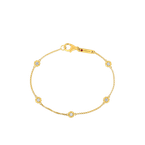 Roberto Coin 18Kt Gold Bracelet With Alternating Diamond Stations