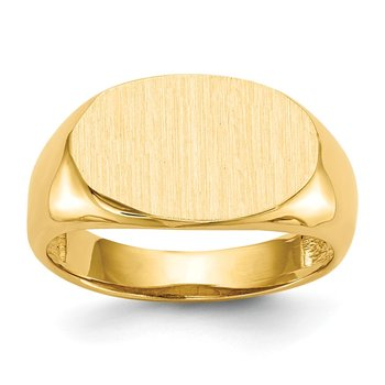 14k 9.5x15.0mm Open Back Signet Ring