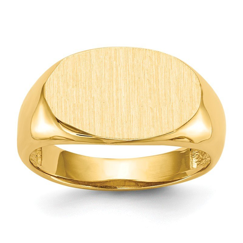 Quality Gold 14k 9.5x15.0mm Open Back Signet Ring