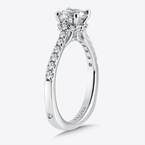 Valina Engagement Ring With Side Stones in 14K White Gold (0.31 ct. tw.)