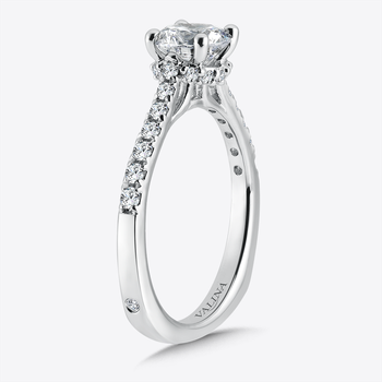 Engagement Ring With Side Stones in 14K White Gold (0.31 ct. tw.)