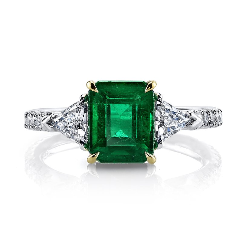 Omi Prive Emerald and Diamond Ring