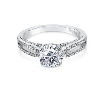 Split Shank Classic Diamond Engagement Ring