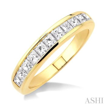 channel set diamond wedding band