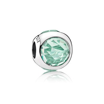 Radiant Droplet Charm, Icy Green Crystals