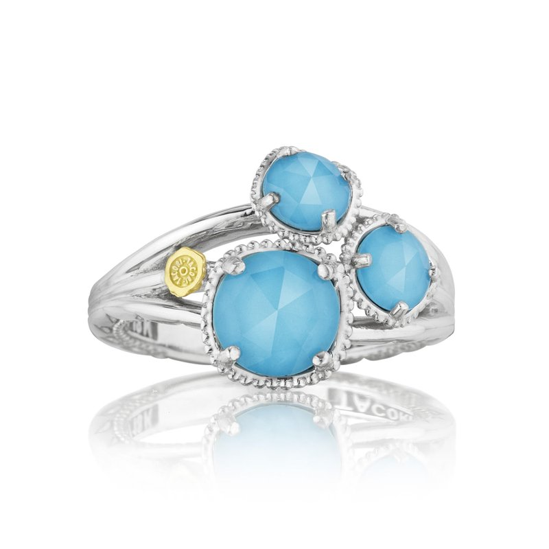 Tacori Fashion Petite Budding Brilliance Ring featuring Neo-Turquoise