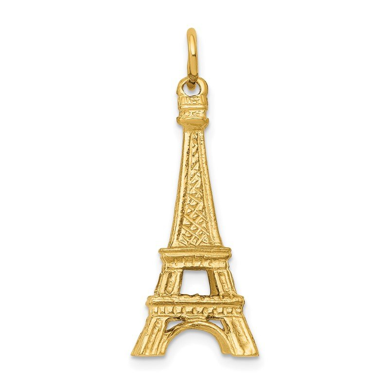 Quality Gold 14K 3D Eiffel Tower Charm