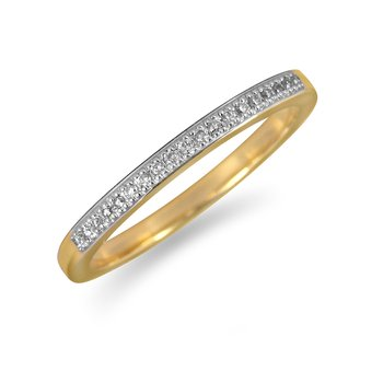 14K YG Diamond Wedding Band