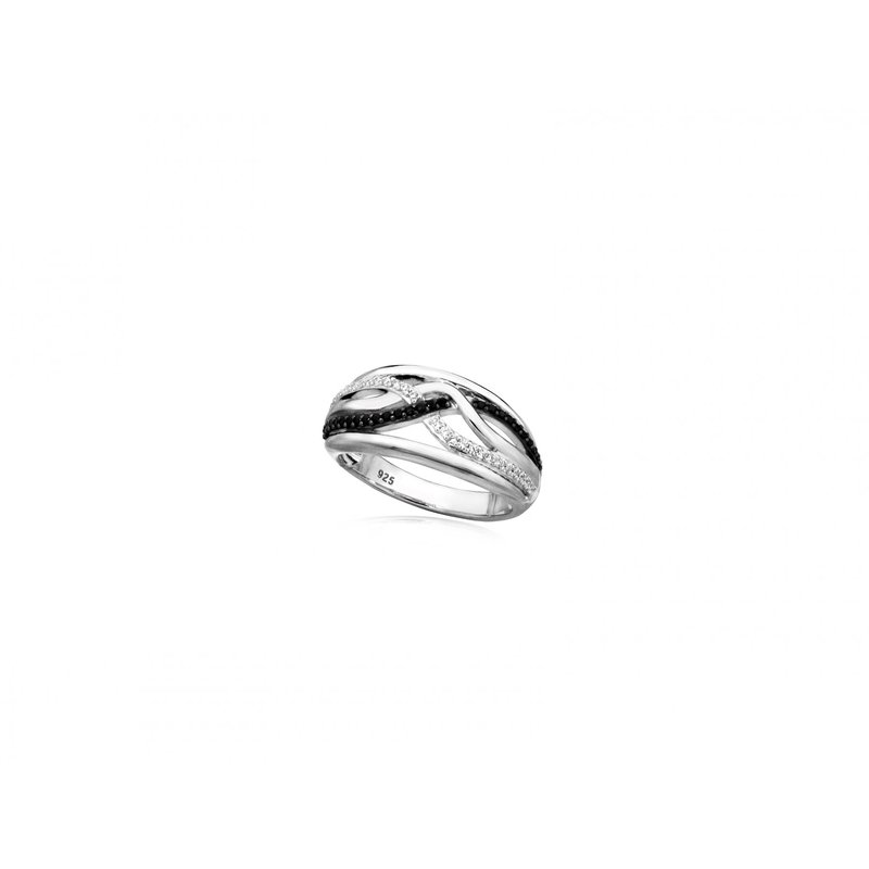 LARUS Jewelry Black and White Ring