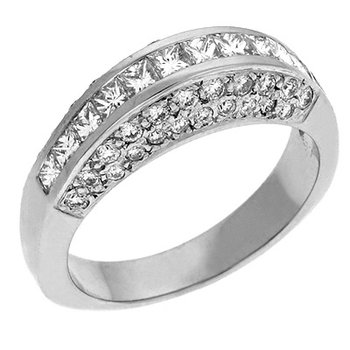 Diamond Pave White Gold Ring