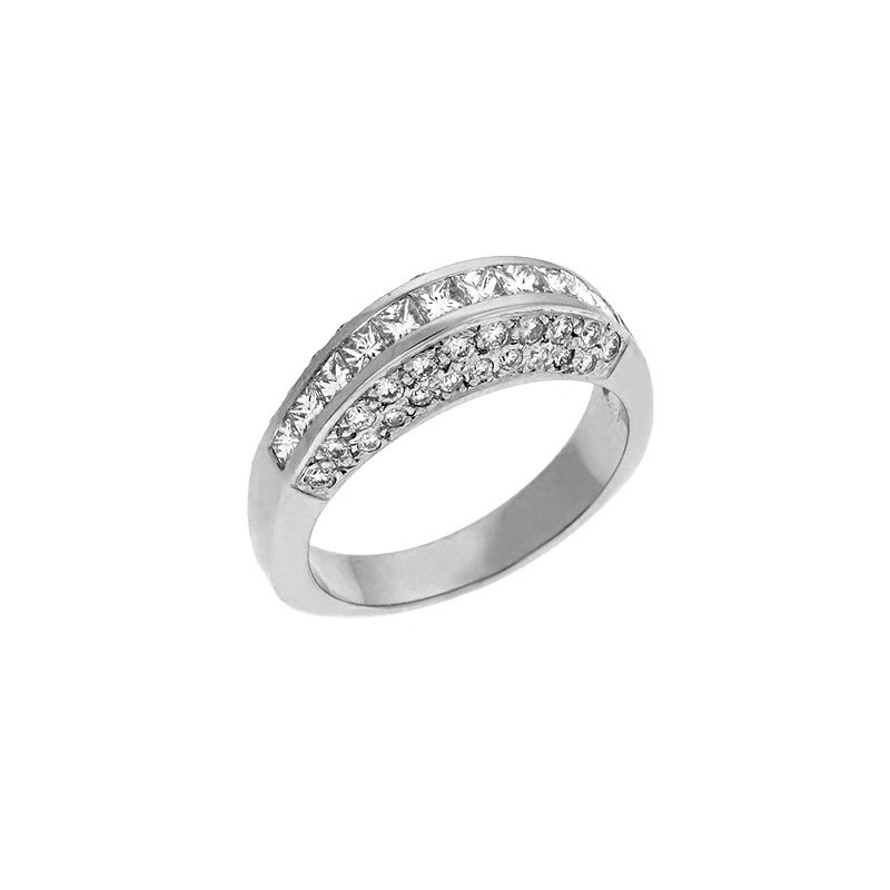 S. Kashi & Sons Bridal Diamond Pave White Gold Ring