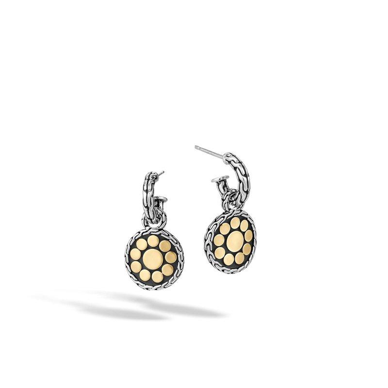 97faa92b5 John Hardy Dot Drop Earring in Silver and 18K Gold. Stock # EZ33748
