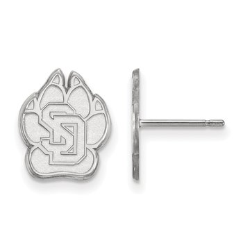 Sterling Silver University of South Dakota NCAA Earrings