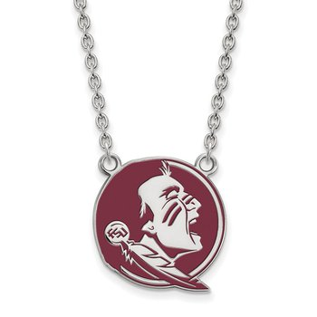 Sterling Silver Florida State University NCAA Necklace