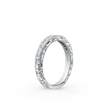 Kirk Kara 18K White Gold Diamond Engraved Band