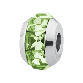 316L stainless steel and peridot Swarovski® Elements
