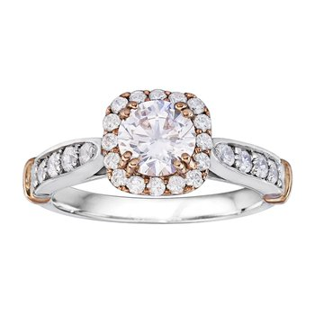 Round Cut Halo Diamond Engagement Ring