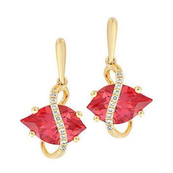 Padparadscha Earrings-CE4291YPD