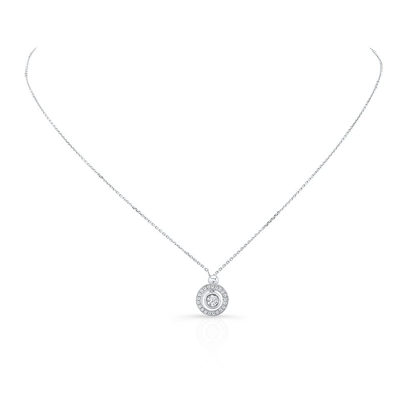 White Gold Convertible Diamond Halo Lariat