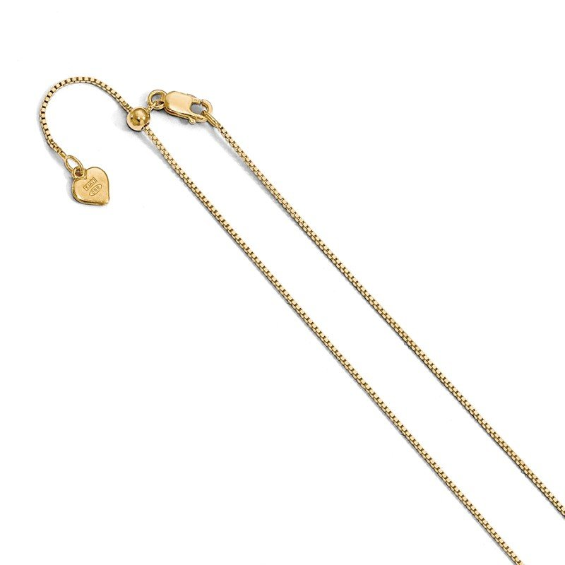 Leslie's Leslie's Sterling Silver .85 mm Gold-plated Adjustable Box Chain
