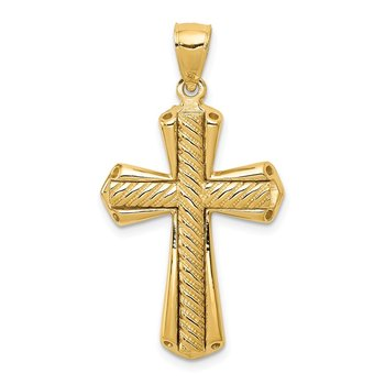 14k Twisted Cross Pendant