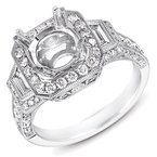 S. Kashi  & Sons White Gold Halo Engagement Ring