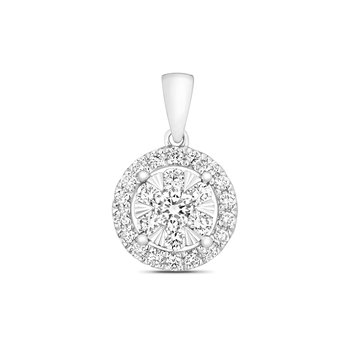 Diamond Brilliant Halo Pendant