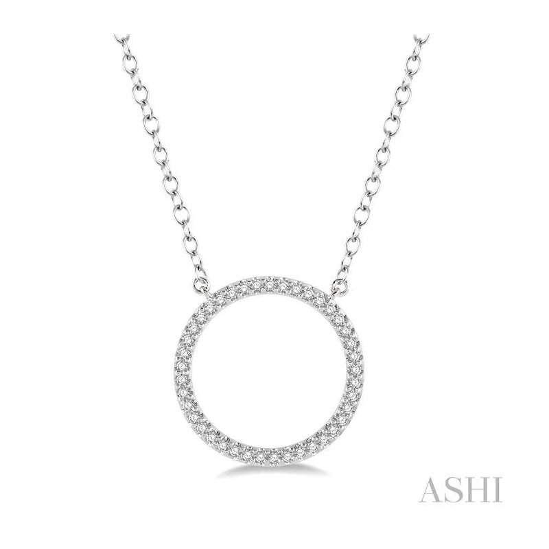 ASHI circle diamond pendant